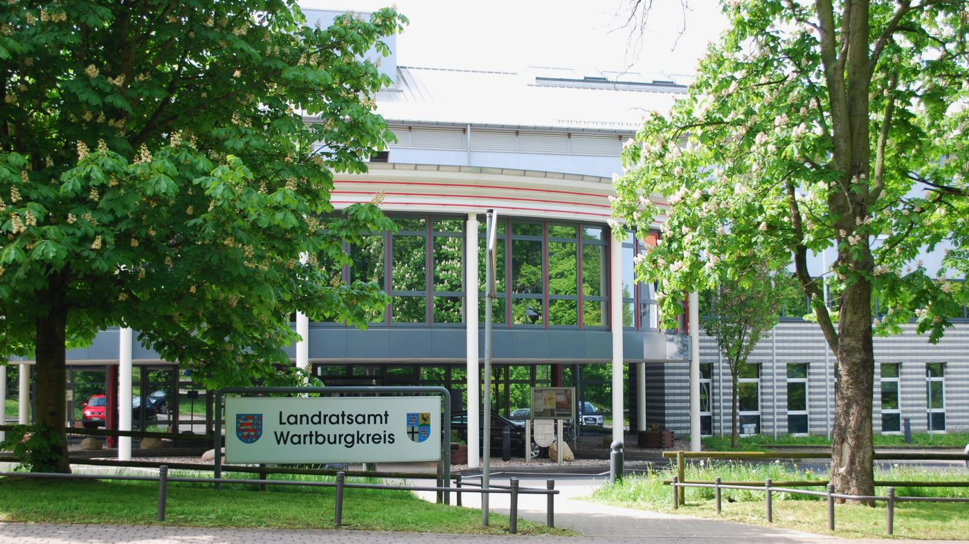 Haupteingang Landratsamt Wartburgkreis